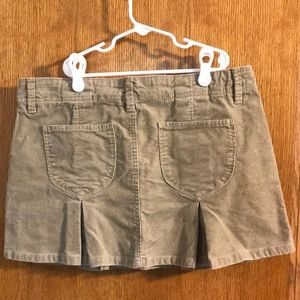 Old Navy Skirts - Old Navy tan corduroy pleated skirt!